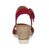 Kožené červené sandály na přírodní platformě gabor, červená, 663-5606 - 15