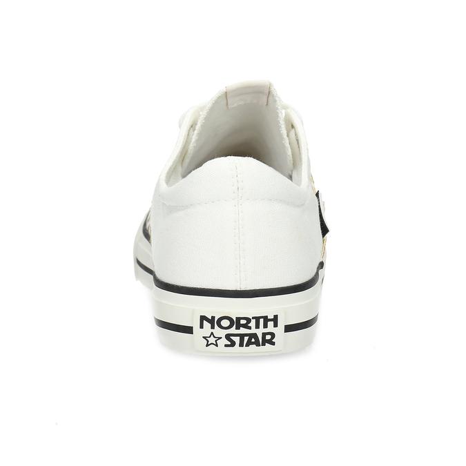 Dámské bílé tenisky s hvězdičkami north-star, bílá, 549-1616 - 15