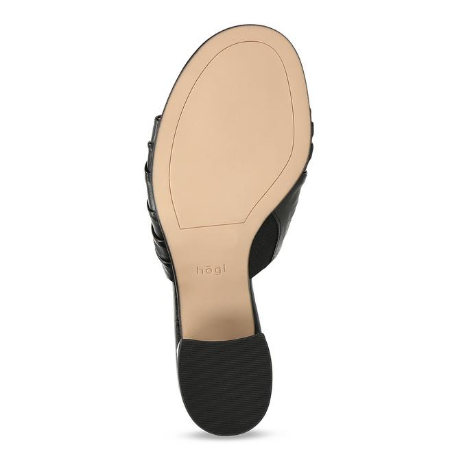 Kožené nazouváky na stabilním podpatku hogl, černá, 664-6018 - 18