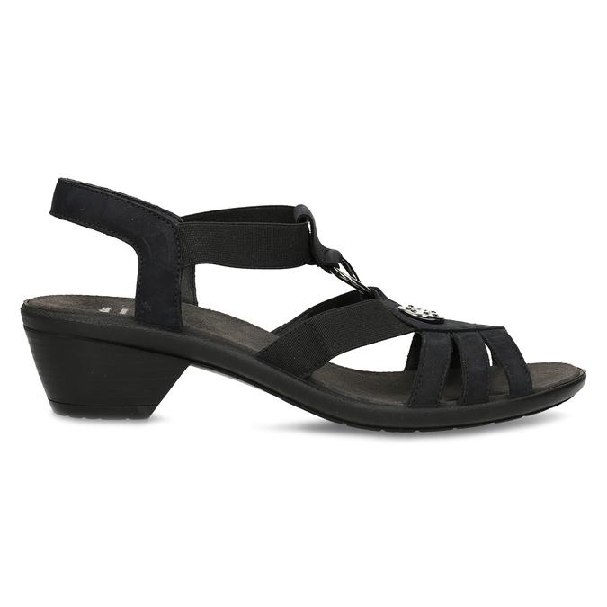 Černé kožené sandály bata, černá, 666-6602 - 19