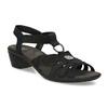 Černé kožené sandály bata, černá, 666-6602 - 13
