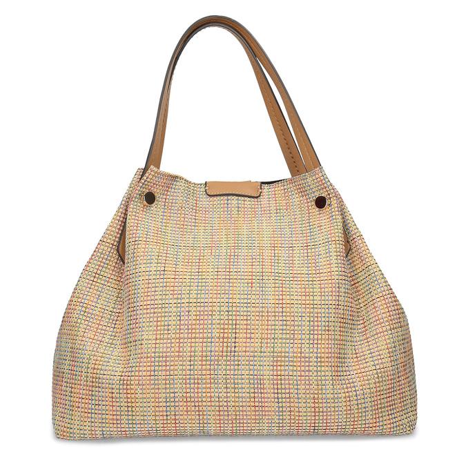 Béžová dámská kabelka s barevným protkáním bata, béžová, 969-8942 - 26