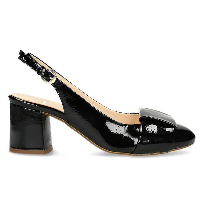 Černé lakované lodičky bata, černá, 628-6632 - 19