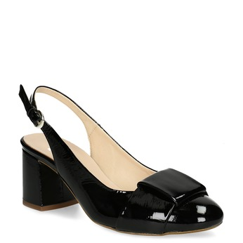 Černé lakované lodičky bata, černá, 628-6632 - 13