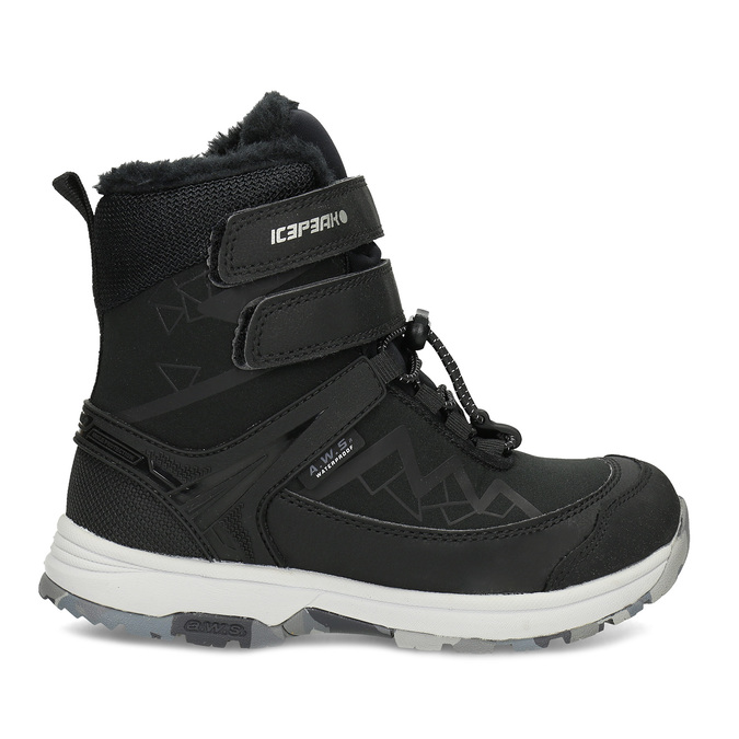 Dětská černá zimní obuv se zateplením icepeak, černá, 399-6006 - 19