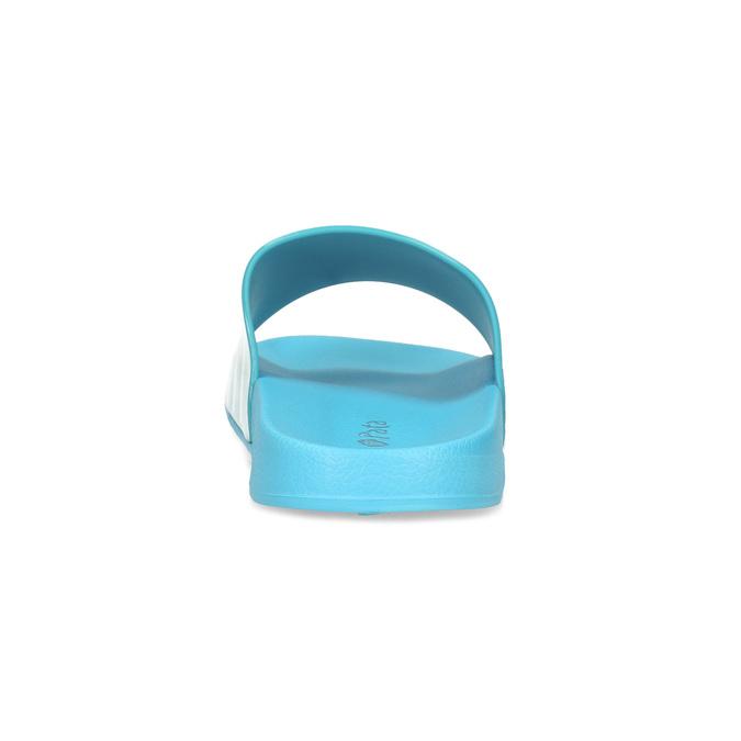 Dámské modré nazouváky s bílým detailem pata-pata, modrá, 572-9688 - 15