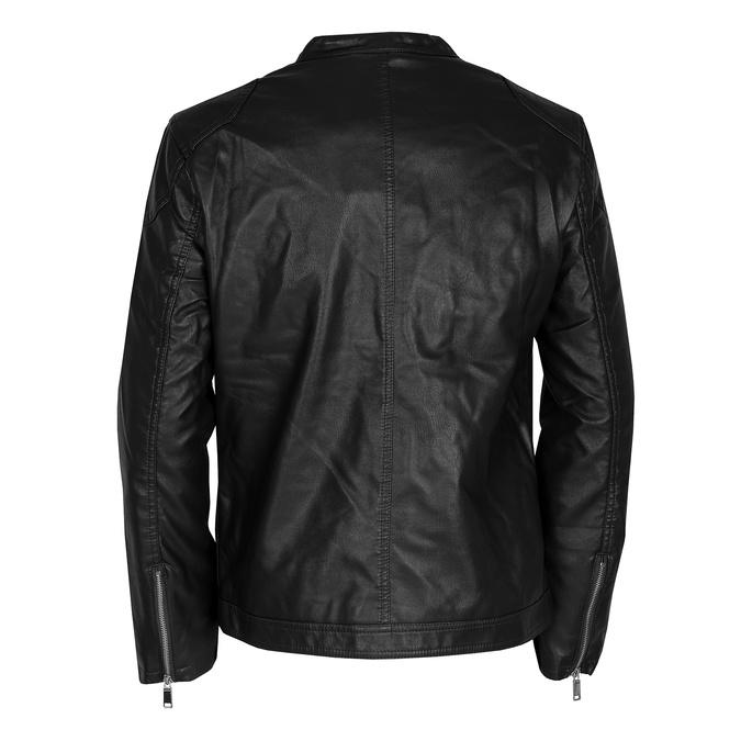 Hnědá pánská bunda se stříbrnými zipy bata, černá, 971-4221 - 26