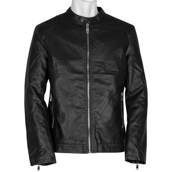 Hnědá pánská bunda se stříbrnými zipy bata, černá, 971-4221 - 13