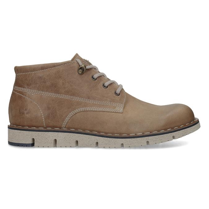Hnědá pánská kožená kotníčková obuv weinbrenner, hnědá, 846-4658 - 19