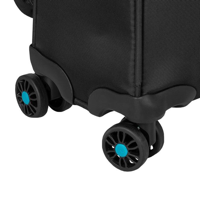 Cestovní textilní černý kufr roncato, černá, 969-6727 - 15