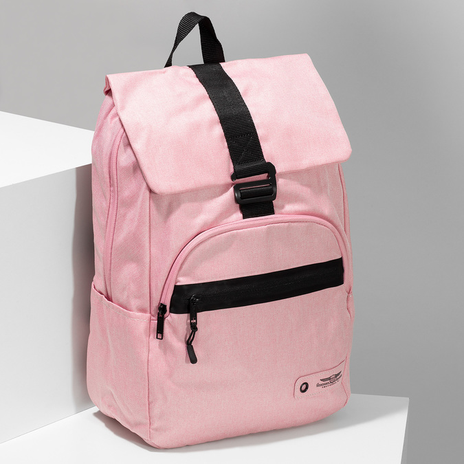 Dámský růžový batoh s černými detaily american-tourister, růžová, 969-5743 - 17