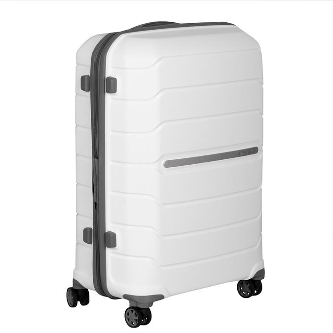Cestovní bílý kufr na kolečkách samsonite, bílá, 960-1622 - 13