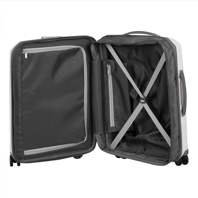 Bílý cestovní kufr na kolečkách samsonite, bílá, 960-1620 - 17