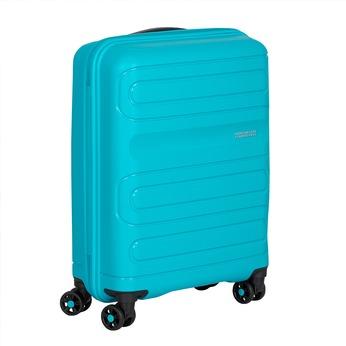 Modrý cestovní kufr na kolečkách american-tourister, modrá, 960-9624 - 13