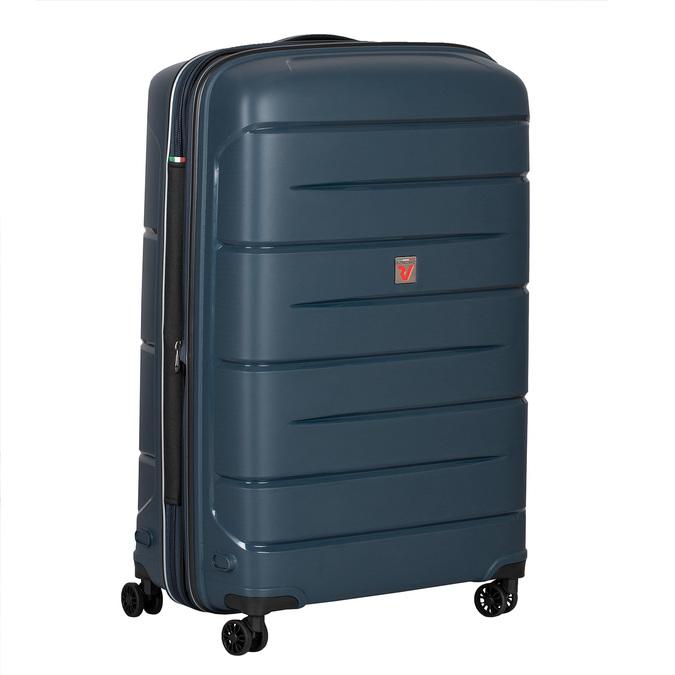 Cestovní modrý kufr na kolečkách roncato, modrá, 960-9618 - 13