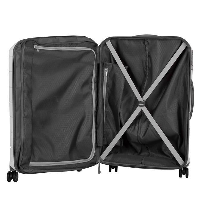 Cestovní bílý kufr na kolečkách samsonite, bílá, 960-1622 - 17