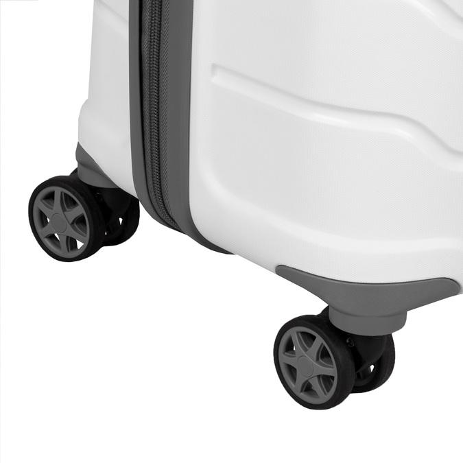 Cestovní bílý kufr na kolečkách samsonite, bílá, 960-1622 - 15