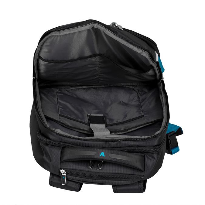 Černý cestovní batoh s modrými detaily roncato, černá, 969-6731 - 17