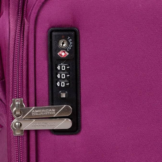 Fialový cestovní kufr na kolečkách american-tourister, růžová, 969-5627 - 16