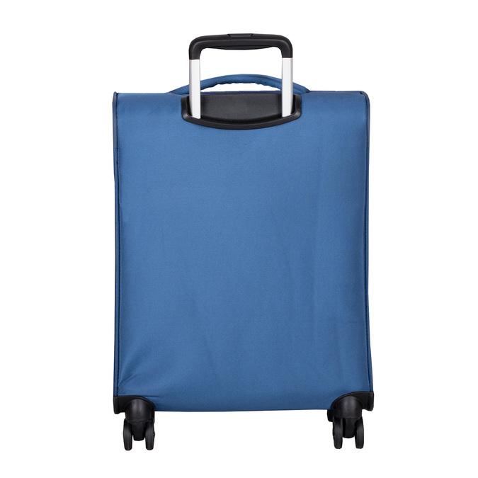 Modrý kufr na kolečkách s nápisy american-tourister, modrá, 969-9740 - 26
