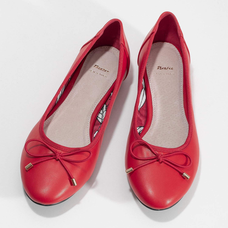 38142df91 ... Červené baleríny s mašlí bata, červená, 521-5650 - 16 ...