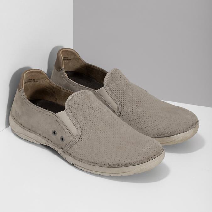 Béžové pánské slip-on boty weinbrenner, béžová, 836-8687 - 26