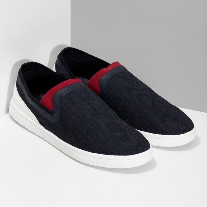Slip-on pánské tenisky tmavě modré bata-red-label, modrá, 839-9604 - 26