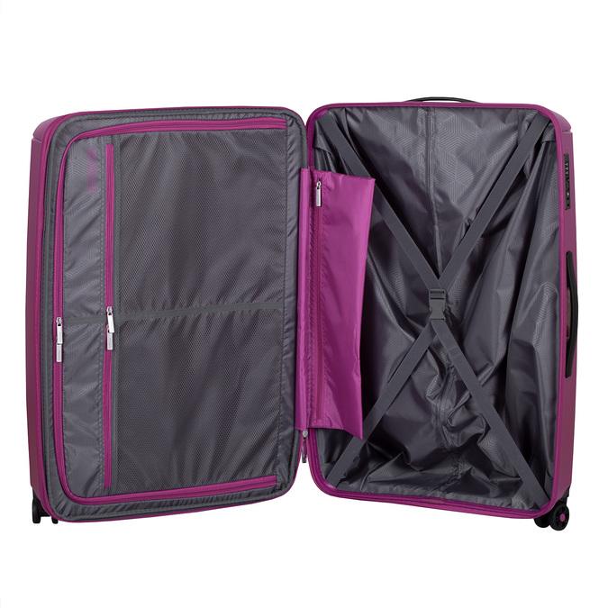 Střední růžový kufr na kolečkách american-tourister, fialová, 960-5625 - 17