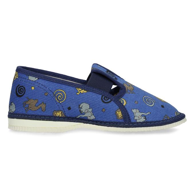 Dětské modré přezůvky se vzorem bata, modrá, 179-9631 - 19