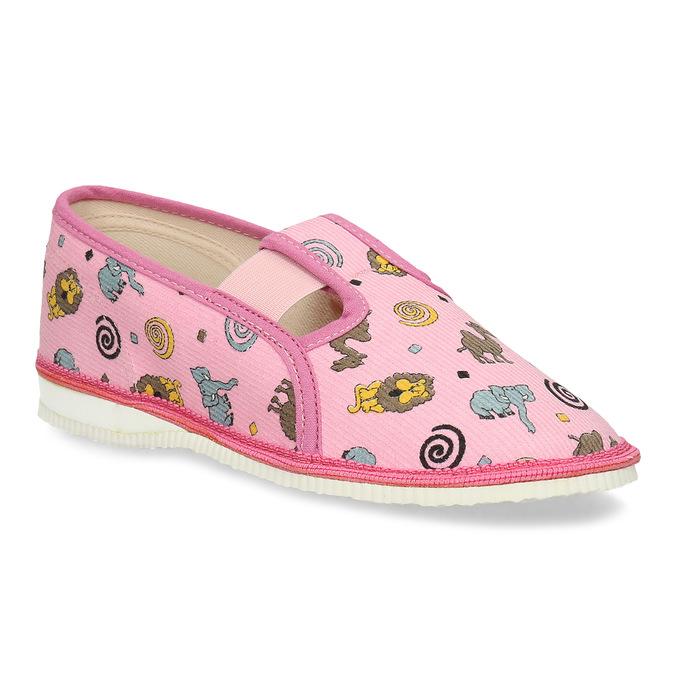 Dětské růžové přezůvky se vzorem bata, růžová, 379-5616 - 13