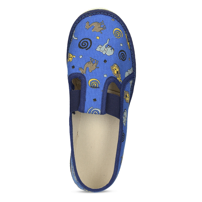 Dětské modré přezůvky se vzorem bata, modrá, 379-9616 - 17