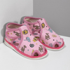 Růžové dětské přezůvky se vzorem bata, růžová, 179-5630 - 26