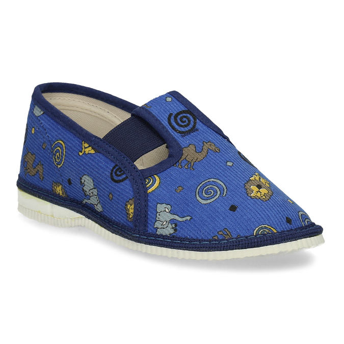 Modré dětské přezůvky se vzorem bata, modrá, 279-9619 - 13