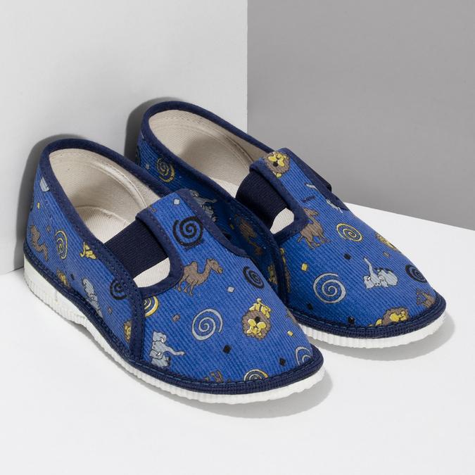Modré dětské přezůvky se vzorem bata, modrá, 279-9619 - 26