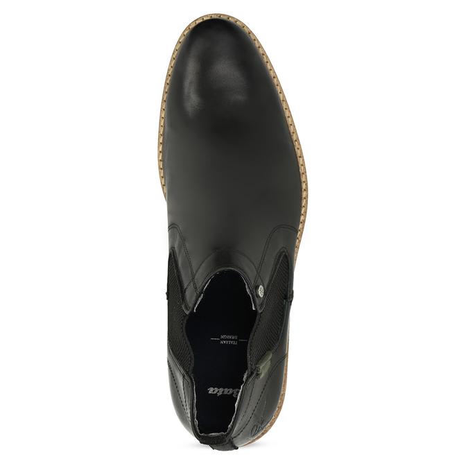 Pánská černá kožená Chelsea obuv bata, černá, 826-6661 - 17