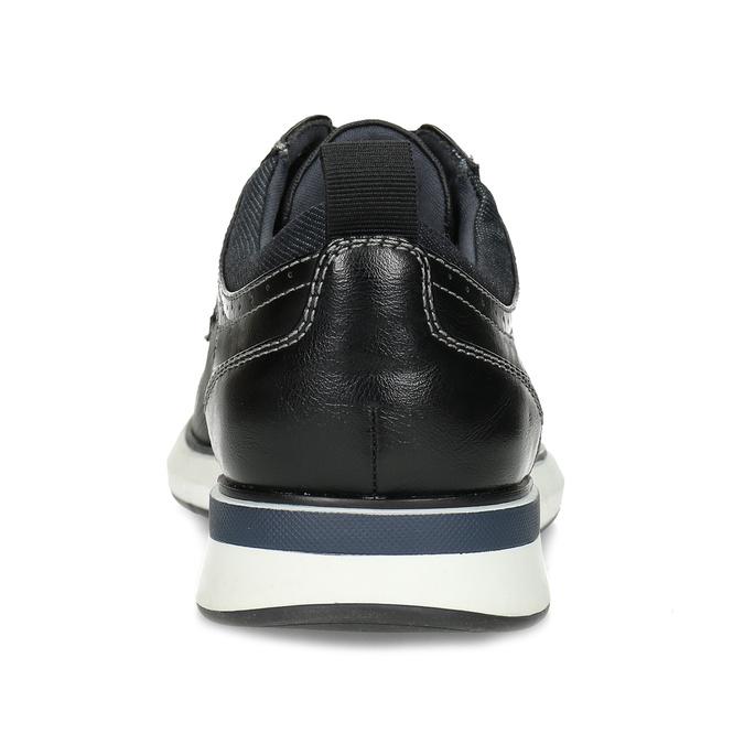Pánské černé tenisky s prošitím bata-red-label, černá, 821-6672 - 15