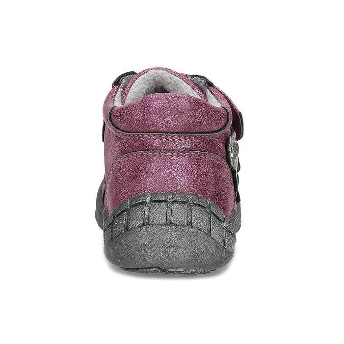Fialová dětská kotníčková obuv na suché zipy bubblegummers, fialová, 121-9722 - 15