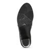 Kotníčková kožená obuv s prošitím bata, černá, 694-6609 - 18