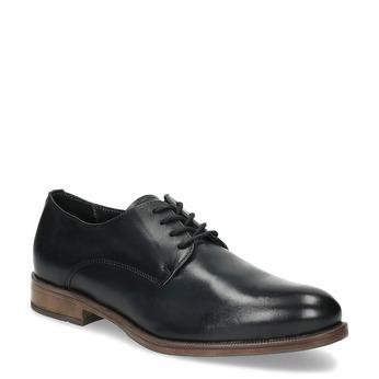 Dámské kožené černé Derby polobotky bata, černá, 524-6608 - 13