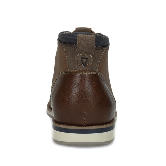 Pánská hnědá kotníčková obuv s prošitím bata-red-label, hnědá, 821-4665 - 15