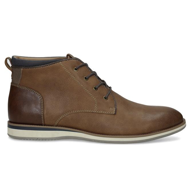 Pánská hnědá kotníčková obuv s prošitím bata-red-label, hnědá, 821-4665 - 19