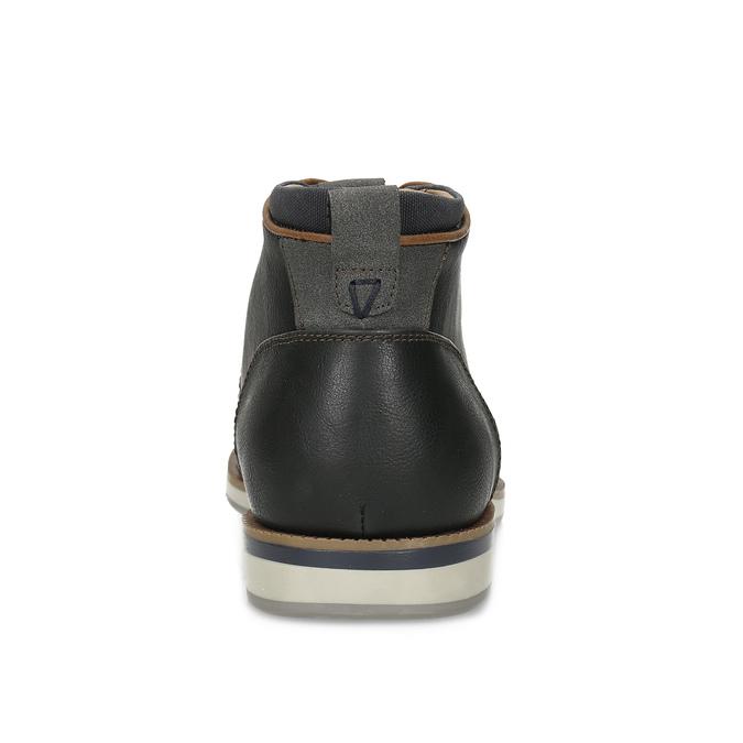 Černá pánská kotníčková obuv s prošitím bata-red-label, černá, 821-6665 - 15