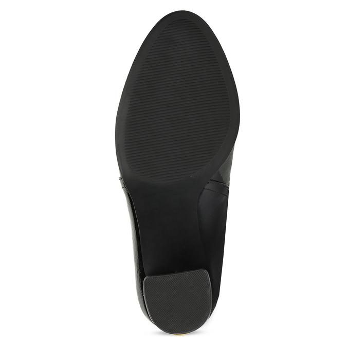 Černé dámské Chelsea kozačky na podpatku bata-red-label, černá, 791-6618 - 18