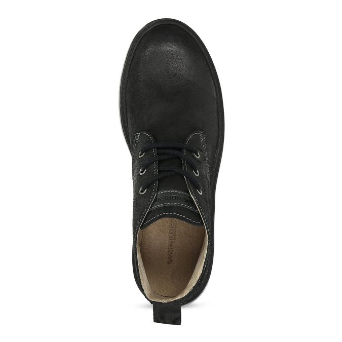 Kotníčková černá kožená pánská obuv weinbrenner, černá, 846-6735 - 17