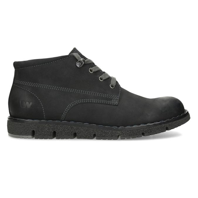 Pánská černá kožená kotníčková obuv weinbrenner, černá, 846-6658 - 19