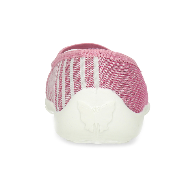 Růžové dětské přezůvky s bílou podešví mini-b, růžová, 379-5607 - 15