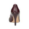 Vínové kožené lodičky na jehlovém podpatku insolia, červená, 724-5603 - 15