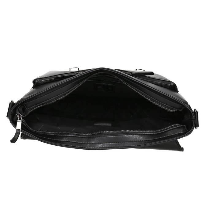 Pánská černá aktovka s popruhem bata, černá, 961-6716 - 15