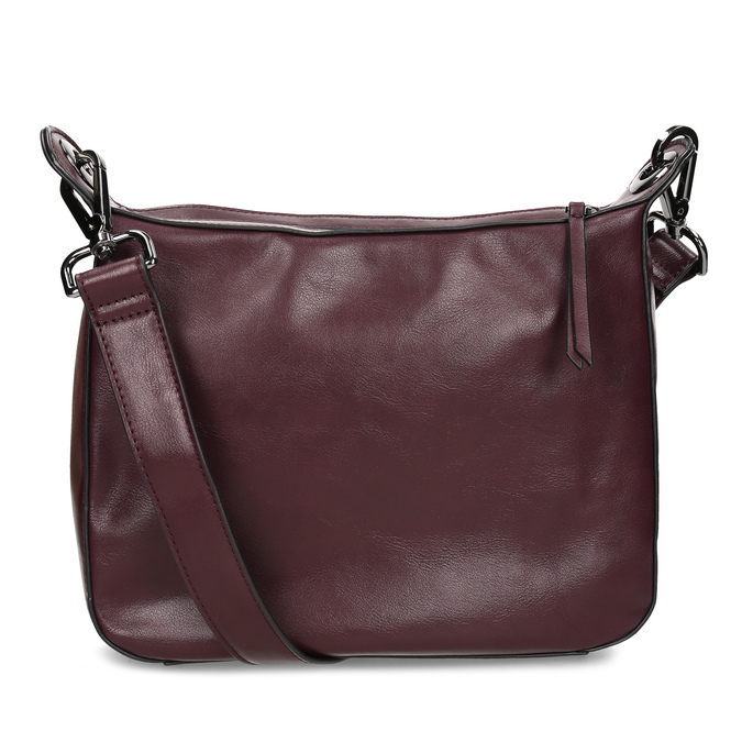 Vínová Crossbody kabelka s prošitím bata, červená, 961-5992 - 16