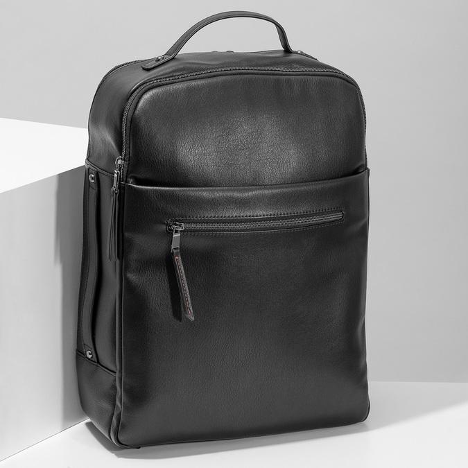 Černý pánský městský batoh bata, černá, 961-6995 - 17